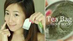 Tea Bag Face Scrub - great way to use up discarded tea bags