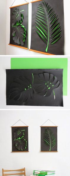 Contrasting color paper cut out
