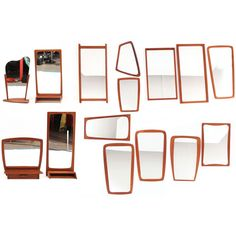 15 Teak Mirrors   From a unique collection of antique and modern wall mirrors at http://www.1stdibs.com/furniture/mirrors/wall-mirrors/