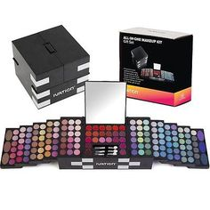 Ivation All-in-One Makeup Kit Gift Set - Contains Truly Vast Collection of Eyesh