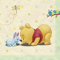 Winnie-the-Pooh Baby Days Baby Shower Beverage Napkins - pkg.  of 16