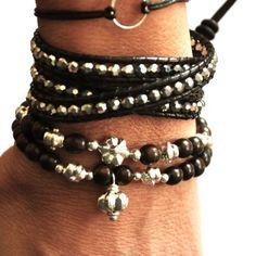 Mahogany and Silver friendship bracelets