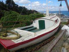 """La lancha de Neruda en donde invitaba a """"navegar"""" a sus amigos, en Isla Negra"""