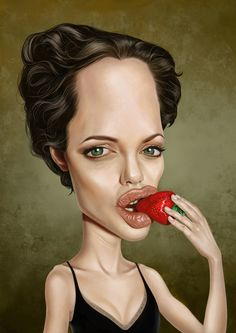 Angelina Jolie | 29 Celebrity Caricatures That Are Incredibly Accurate