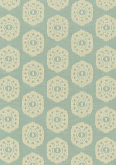 Circle Ikat #fabric in #seaglass from the Richmond collection. #Thibaut