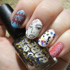 Comic book style manicure