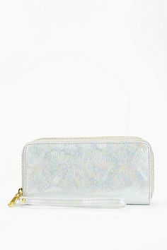 Kimchi Blue Embossed Pattern Double-Zip Wallet #urbanoutfitters