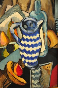 John Graham - Still Life with Fruit and Blue and White Pitcher, 1926