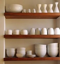 I want to rip my kitchen cabinets out...eco friendly kitchen shelving