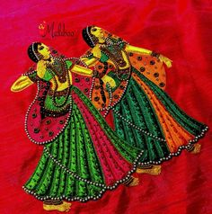 dancing dolls embroidery
