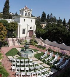 Ceremony will be in the courtyard