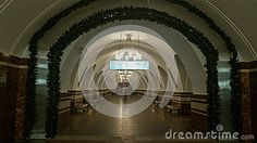 Metro Station Frunzenskaya Night. - Download From Over 53 Million High Quality Stock Photos, Images, Vectors. Sign up for FREE today. Image: 84725761