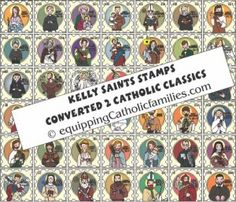 Last minute Easter Basket Gift! Kelly Saints Stamps Craft Kit to convert your classic board games to Catholic ...plus much more! Print at home in time for Easter!