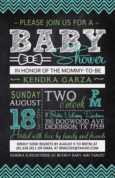 Kendra's Baby Shower Invitation