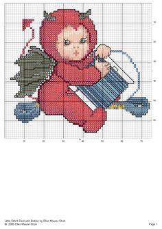 """""""Stitching Devil winding Bobbins"""" by designer Ellen Maurer-Stroh (Stitching Devils Series)"""