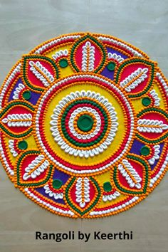 Easy Rangoli Patterns, Easy Rangoli Designs Videos, Simple Rangoli Designs Images, Rangoli Colours, Rangoli Ideas, Rangoli Designs With Dots, Beautiful Rangoli Designs, Happy Diwali Rangoli, Easy Rangoli Designs Diwali