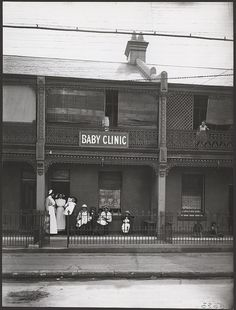 Baby Clinic at Newtown,Sydney ca.1914 Photo shared by State Records NSW, via Flickr. v@e.