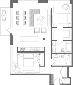 33 best floorplans images on pinterest 2 bedroom apartments two bedroom apartments and for How much to paint a two bedroom apartment