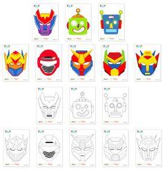 로봇가면만들기.Creating a robot masks
