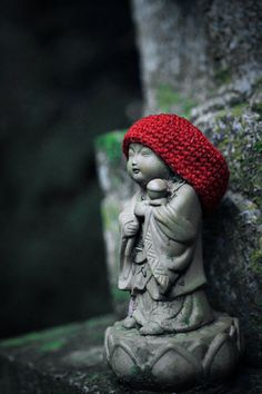 Jizo Bosatsu (Bodhisattva) is one of the most beloved figures of Japanese Buddhism. He is known in particular as the protector of deceased children.