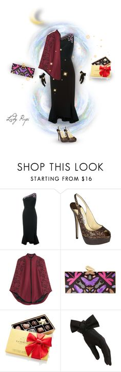 """Evening Gala"" by papillon-ze-cat ❤ liked on Polyvore featuring Peter Pilotto, Jimmy Choo, Jason Wu, KOTUR, Godiva and Black"