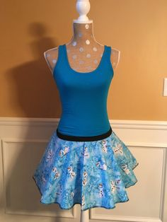 Freezing Winter Snowman Olaf inspired Running skirt and Tank