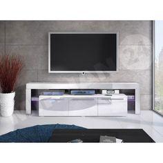 TV szekrény Quatro 150 Plus Smoke Grill, Formal Dinner, Desk Set, Tv Cabinets, High Gloss, Party Planning, Doors, Led, Lights
