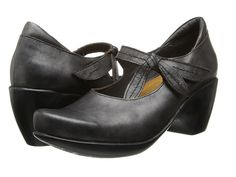 Naot Footwear Pleasure Black Pearl Leather - 6pm.com