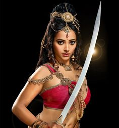"Nandini is the beautiful warrior bride of emperor Chandra Gupta Mauria in the series ""Chandra Nandini"""