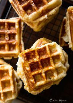 traditional Belgian liege waffle recipe