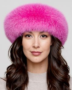 New Fashion Style Hat Real Natural Mink Fur Hat With Fox Hair Stitched On A Cotton Cloth To Form A Ponytail With A Fox Fur Ball Attractive Appearance Apparel Accessories Women's Hats