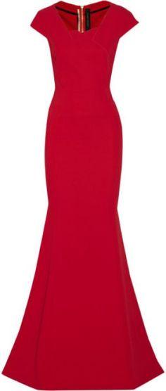 ROLAND MOURET Sitobion stretch-crepe gown