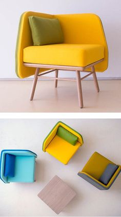 Six Design: colours and freshness starring at ICFF TwoSix Design Two.Six Design: cores e frescur Funky Furniture, Design Furniture, Sofa Furniture, Sofa Chair, Sofa Set, Contemporary Furniture, Chair Design, Contemporary Office, Muebles Living