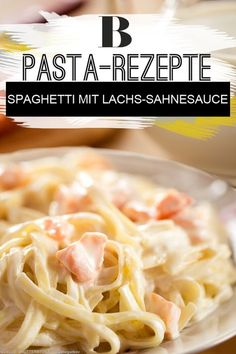 Nudeln mit Lachs-Sahnesoße. Dieses Gericht ist ein richtiger Pasta-Klassiker und kommt garantiert bei Gästen gut an! Mit Sahne, Lachs und Tomatenmark ist es dazu auch noch schnell gemacht und passt perfekt zu Spaghetti oder Bandnudeln.
