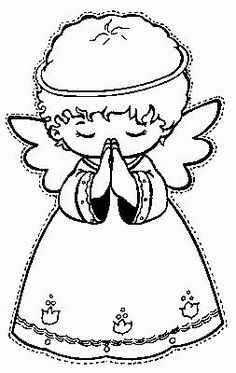 Christmas coloring pages for kids Angel Coloring Pages, Colouring Pages, Adult Coloring Pages, Coloring Books, Coloring Sheets, Christmas Angels, Christmas Art, Christmas Projects, Holiday Crafts