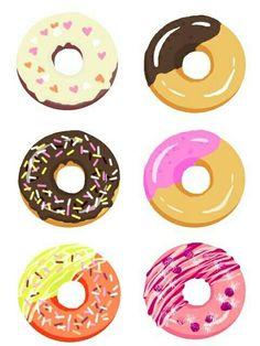 Imagen de donuts, food, and wallpaper