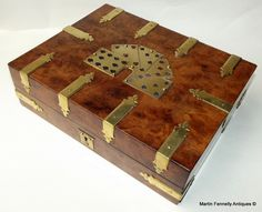 Walnut Cribbage Games Box - Brass Bound - English Circa 1890 - This is a Beautiful Box - Read more on the Website - Thanks - http://www.fennelly.net/Antiques/Newest%20Listings%20-%20Antique%20Shop%20Dublin%20Ireland/395%20Walnut%20Cribbage%20Games%20Box%20-%20Brass%20Bound%20-%20English%20Circa%201890.aspx