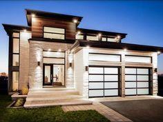 Zimmer deko ideen Projet Albatros - single-family homes Modern House Plans, Modern House Design, Modern House Styles, Bungalow Landscaping, Landscaping Ideas, Facade House, House Exteriors, Modern Home Exteriors, Modern Architecture House
