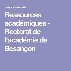 Ressources académiques - Rectorat de l'académie de Besançon