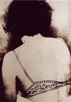 bra tattoo, 1950s