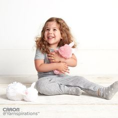 No-Needle Pompom Bunny in Caron Simply Soft