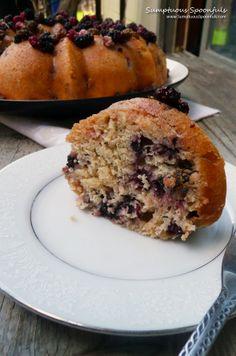 Fresh Lemon Berry Yogurt Cake ~ Sumptuous Spoonfuls #lemon #berry #cake #recipe