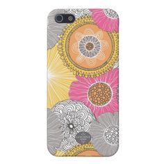 Pink, Yellow and Orange Modern Vintage iphone Case iPhone 5 Case