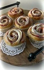 Tuulan Teitä: Pullat ruusuiksi Finnish Recipes, Just Eat It, Creme Brulee, Christmas Treats, Cinnamon Rolls, Doughnut, Good Food, Fun Food, Food And Drink