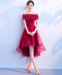 Lovely Red Tulle Homecoming Dress High Low Prom Dresses 2019 – BeautyDressy The Effective Pictures We Offer You About Homecoming Dress blackgirl A quality picture can tell you many things. Cheap Prom Dresses Online, Prom Dresses Under 100, Unique Prom Dresses, Beautiful Prom Dresses, High Low Evening Dresses, Grey Evening Dresses, Burgundy Evening Dress, Teal Homecoming Dresses, Black Bridesmaid Dresses