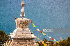 Stock Photo : Tibetan Buddhist Tower by Lugu Lake