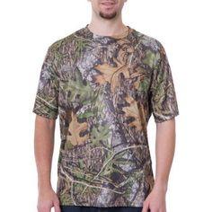 Mossy Oak Men's Turkey Short Sleeve Camo (Green) Performance Tee, Size: Medium