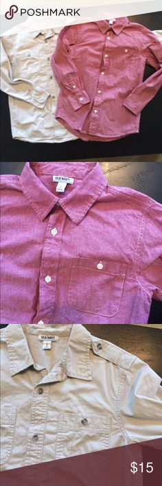 Old Navy 2 for 1 Button Up Shirts Bots Large Excellent Condition Old Navy Shirts & Tops Button Down Shirts