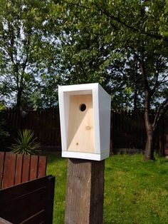 Hey, I found this really awesome Etsy listing at https://www.etsy.com/uk/listing/539914016/modern-handmade-bird-house-1-of-a-kind