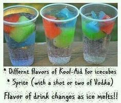 Kool aid cubes with sprite and vodka